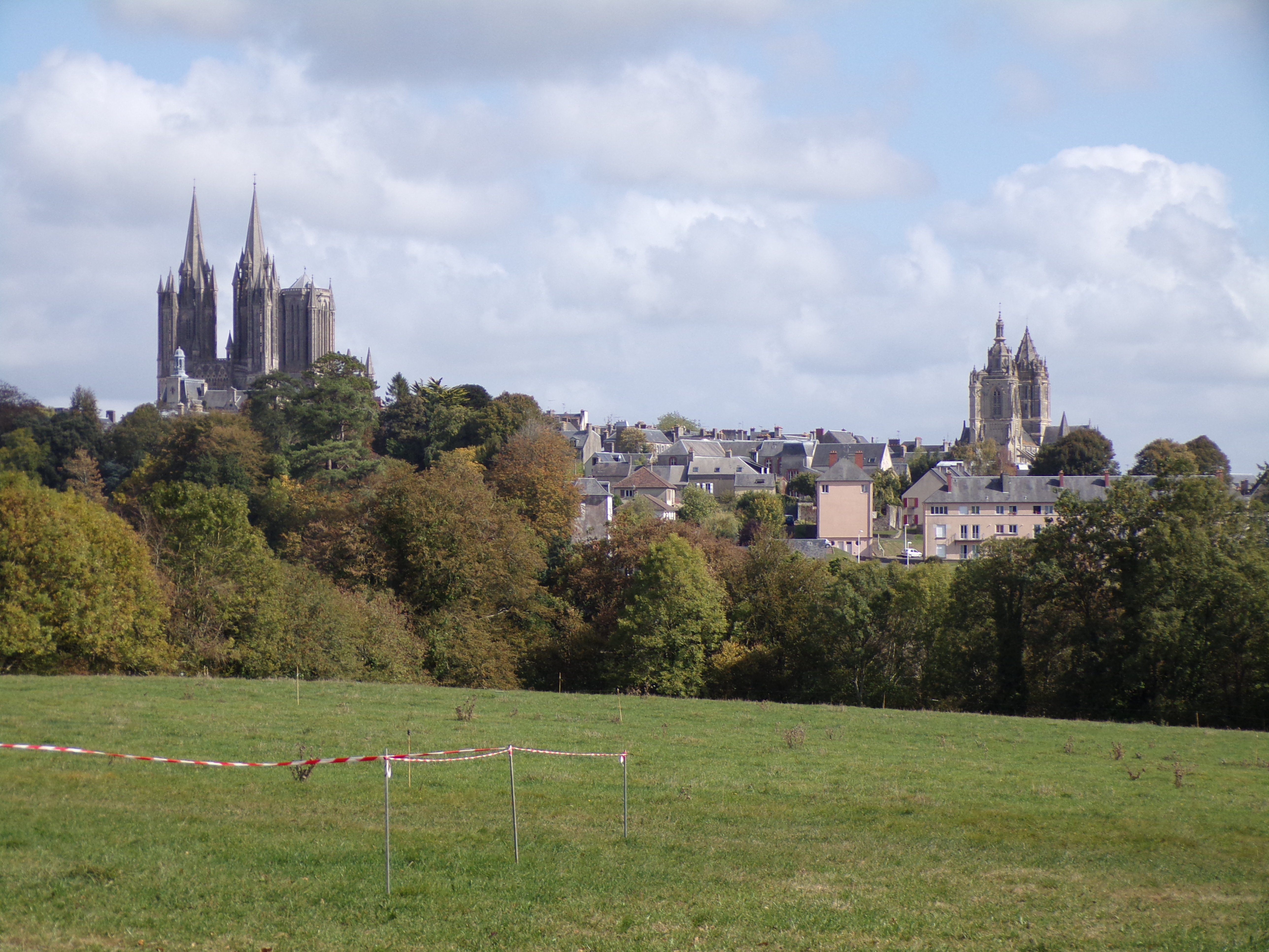 View of Coutances from the agricultural college