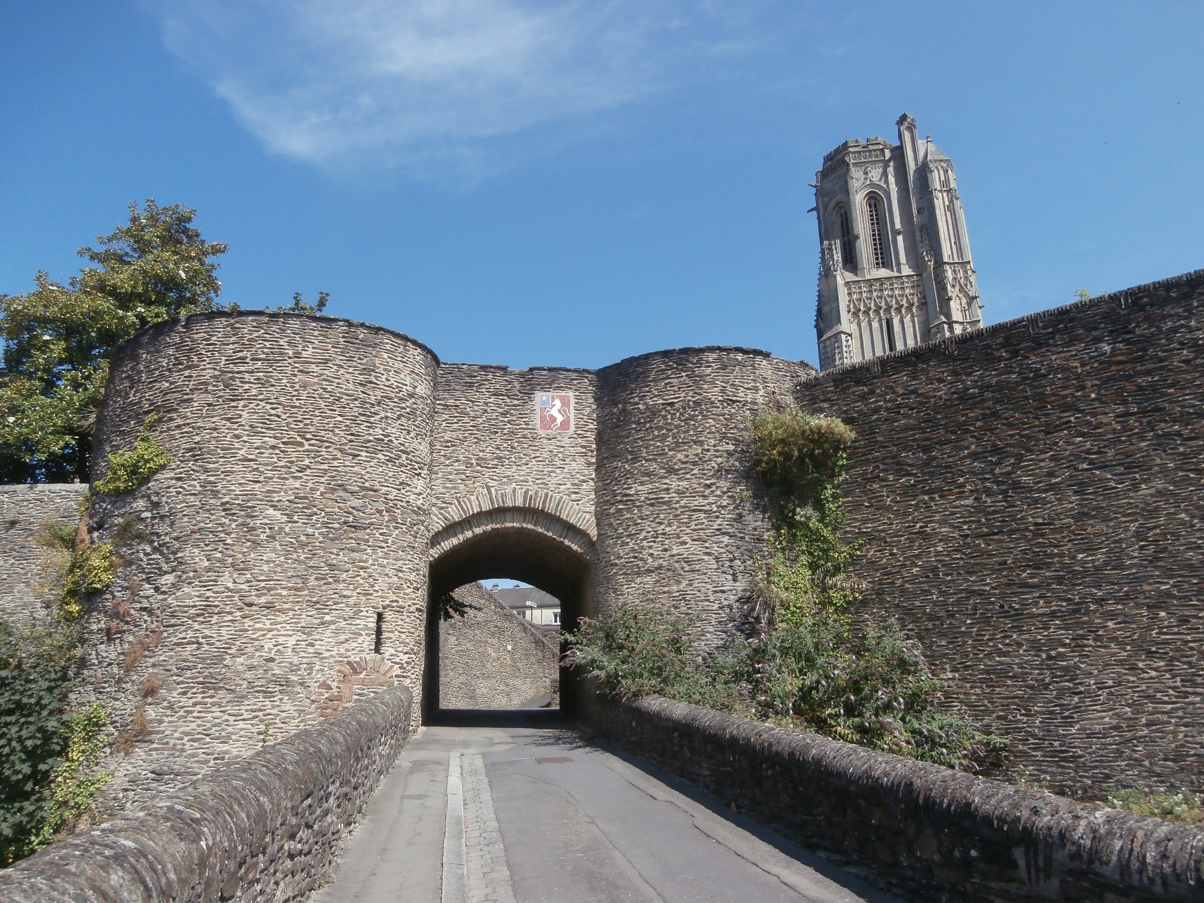 Entrance gate on the city walls